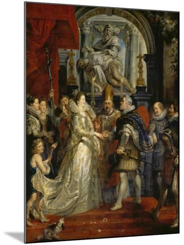 The Proxy Marriage of Marie De Medici and Henri Iv, 5th October 1600, 1621-25-Peter Paul Rubens-Mounted Giclee Print
