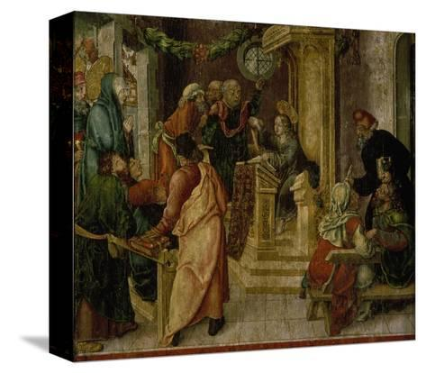 Jesus Christ. at the Age of Twelve, Among the Scribes-Rudolf Stahel-Stretched Canvas Print