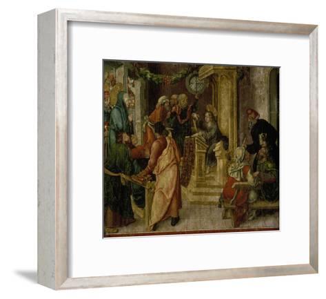 Jesus Christ. at the Age of Twelve, Among the Scribes-Rudolf Stahel-Framed Art Print