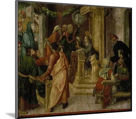 Jesus Christ. at the Age of Twelve, Among the Scribes-Rudolf Stahel-Mounted Giclee Print