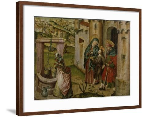 Jesus with His Parents on their Way Home-Rudolf Stahel-Framed Art Print