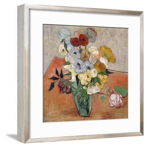 Vase with Roses and Anemones, 1890-Vincent van Gogh-Framed Art Print