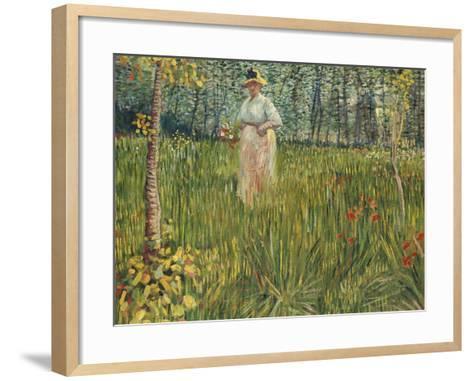 Woman in a Garden (Femme Dans Un Jardin), 1887-Vincent van Gogh-Framed Art Print