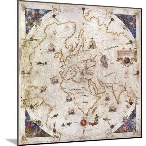 Portolan Chart of the World, Venice, 1519--Mounted Giclee Print