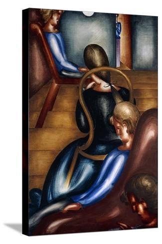Large Sedentary Group 1 (Grosse Sitzendengruppe 1), 1931-Oskar Schlemmer-Stretched Canvas Print