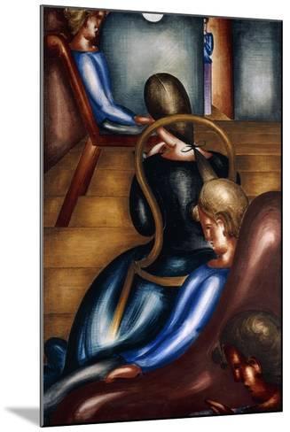 Large Sedentary Group 1 (Grosse Sitzendengruppe 1), 1931-Oskar Schlemmer-Mounted Giclee Print