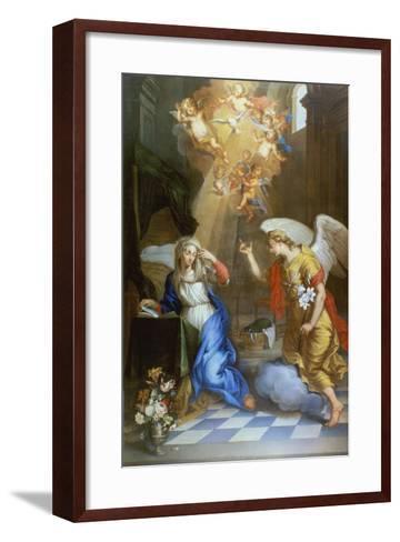 Annunciation-Oswald Onghers-Framed Art Print