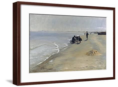 Southern Beach at Skagen, 1884-Peter Severin Kroyer-Framed Art Print