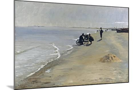 Southern Beach at Skagen, 1884-Peter Severin Kroyer-Mounted Giclee Print