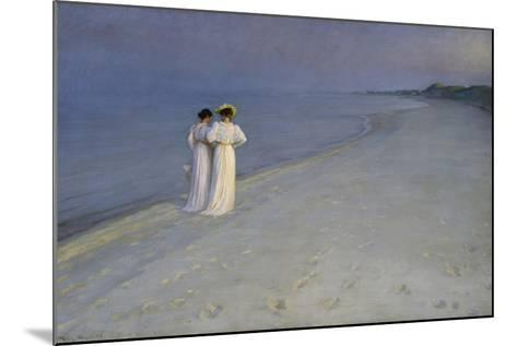 Summer Evening at Skagen (Anna Ancher and Marie Kroyer on the Beach at Skagen), 1893-Peter Severin Kroyer-Mounted Giclee Print