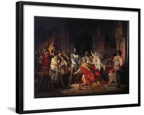 Humiliation of Emperor Frederick Barbarossa by Henry the Lion 1176-Philipp Foltz-Framed Art Print