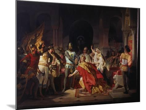 Humiliation of Emperor Frederick Barbarossa by Henry the Lion 1176-Philipp Foltz-Mounted Giclee Print