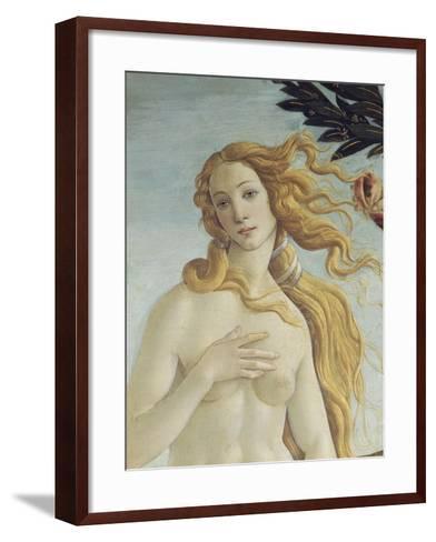 The Birth of Venus (Detail)-Sandro Botticelli-Framed Art Print