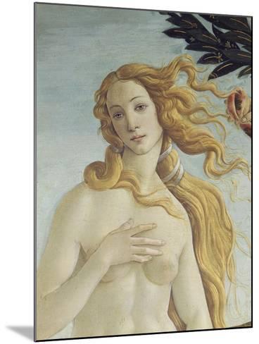 The Birth of Venus (Detail)-Sandro Botticelli-Mounted Giclee Print
