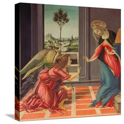Annunciation Mary of Cestello-Sandro Botticelli-Stretched Canvas Print
