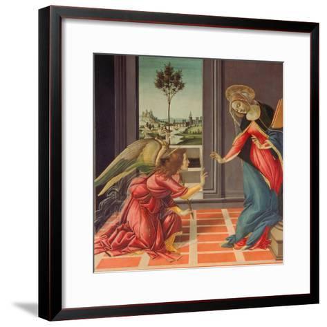 Annunciation Mary of Cestello-Sandro Botticelli-Framed Art Print