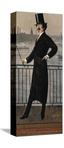 James Abbott Mcneill Whistler Auf Dem Widow's Walk in Der Naehe Seines Hauses-Walter Greaves-Stretched Canvas Print