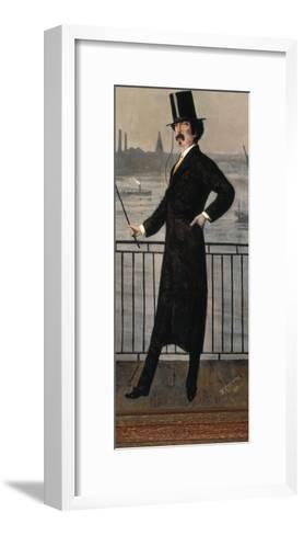 James Abbott Mcneill Whistler Auf Dem Widow's Walk in Der Naehe Seines Hauses-Walter Greaves-Framed Art Print