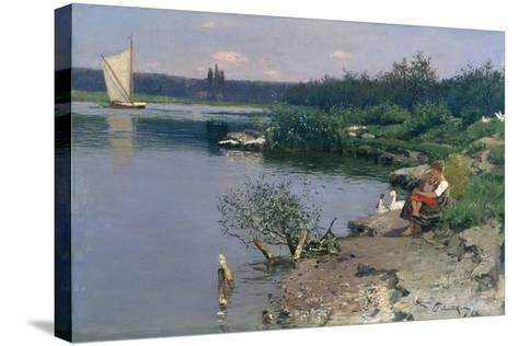 Riverbank, 1887-Walter Leistikow-Stretched Canvas Print