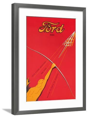 A Poster Advertising the Ford V8 Engine, 1933--Framed Art Print