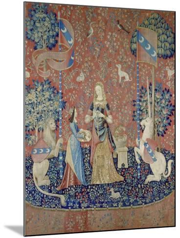 The Lady and the Unicorn: Smell, Between 1484 and 1500--Mounted Giclee Print