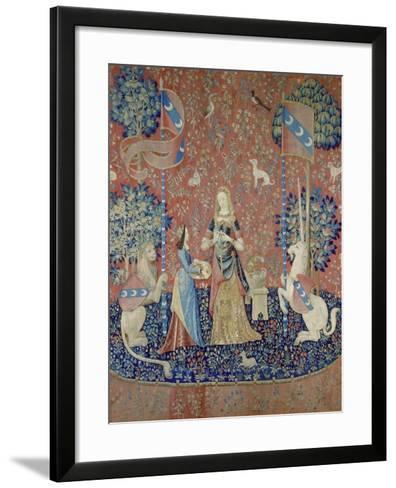 The Lady and the Unicorn: Smell, Between 1484 and 1500--Framed Art Print