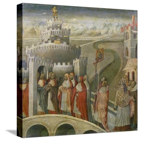 The Procession of St. Gregory at the Mausoleum of Hadrian (Castel Sant'Angelo) in Rome-Paolo Veronese-Stretched Canvas Print