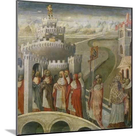 The Procession of St. Gregory at the Mausoleum of Hadrian (Castel Sant'Angelo) in Rome-Paolo Veronese-Mounted Giclee Print