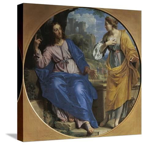 Christ and the Samaritan Woman at the Well, 1648-Philippe De Champaigne-Stretched Canvas Print