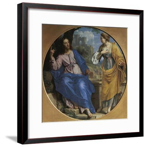 Christ and the Samaritan Woman at the Well, 1648-Philippe De Champaigne-Framed Art Print