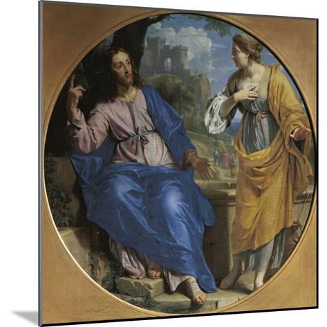 Christ and the Samaritan Woman at the Well, 1648-Philippe De Champaigne-Mounted Giclee Print