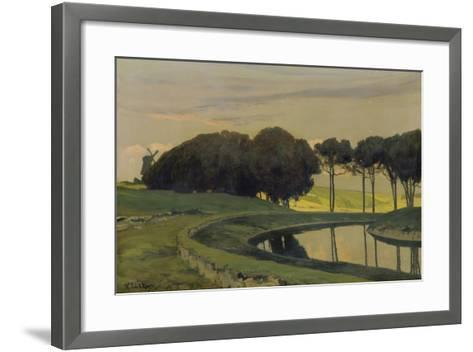 Evening Atmosphere at the Canal-Walter Leistikow-Framed Art Print