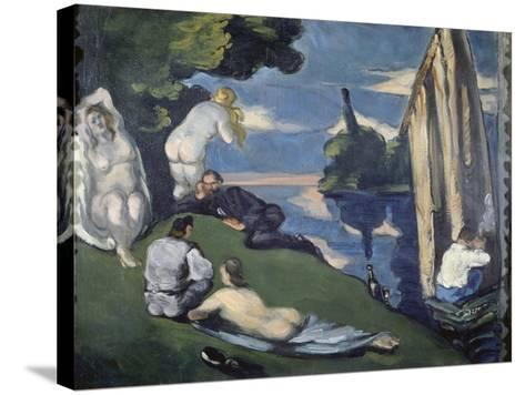 Pastoral (Or: Idyll), 1870-Paul C?zanne-Stretched Canvas Print
