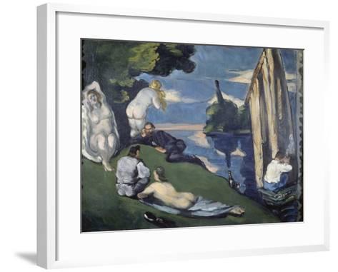Pastoral (Or: Idyll), 1870-Paul C?zanne-Framed Art Print