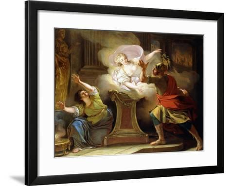 Aeneas Pursuing Helen in the Temple of Vesta-Pierre Puvis de Chavannes-Framed Art Print