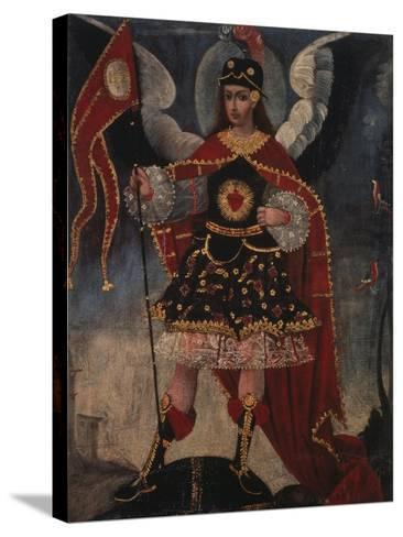 Archangel Michael- Schule von Cuzco-Stretched Canvas Print