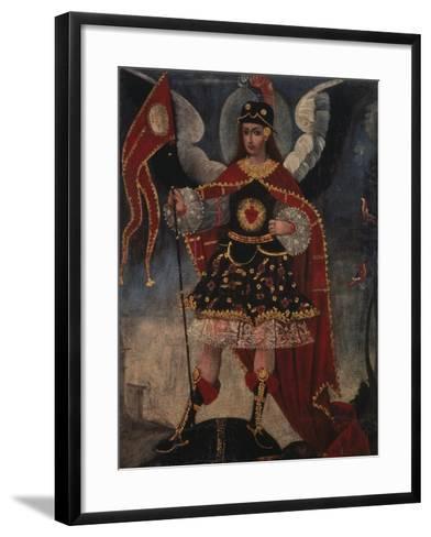 Archangel Michael- Schule von Cuzco-Framed Art Print