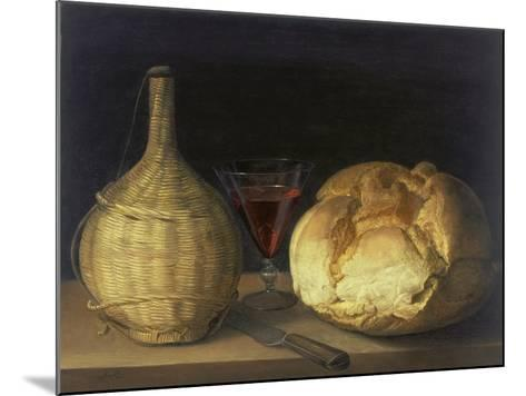 Still Life with Demijohn, Goblet and Bread, 1630-35-Sebastiano del Piombo-Mounted Giclee Print