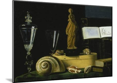 Still-Life with Statue, Books and Shells-Sebastian Stosskopf-Mounted Giclee Print