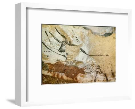 Caves of Lascaux, Fourth Bull, Below: Red Cow with Calf, Great Hall, Right Wall, C. 17,000 BC--Framed Art Print