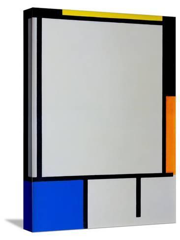 Composition-Piet Mondrian-Stretched Canvas Print
