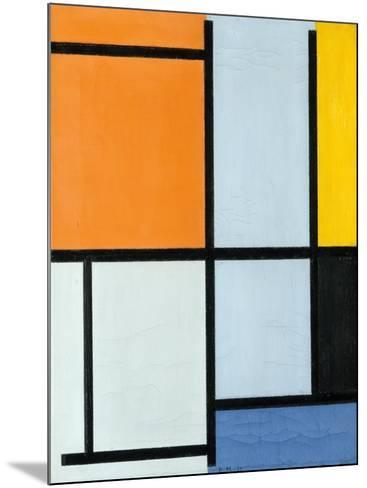 Composition 1921-Piet Mondrian-Mounted Giclee Print
