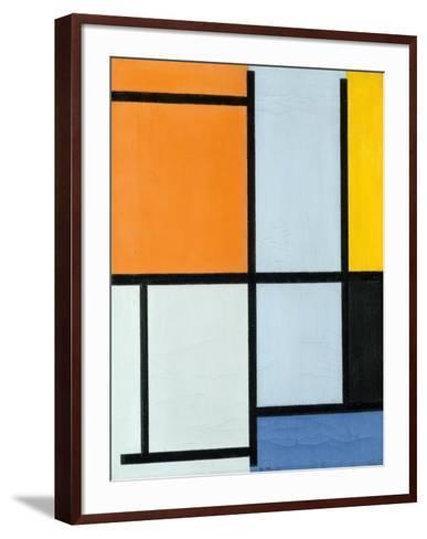 Composition 1921-Piet Mondrian-Framed Art Print