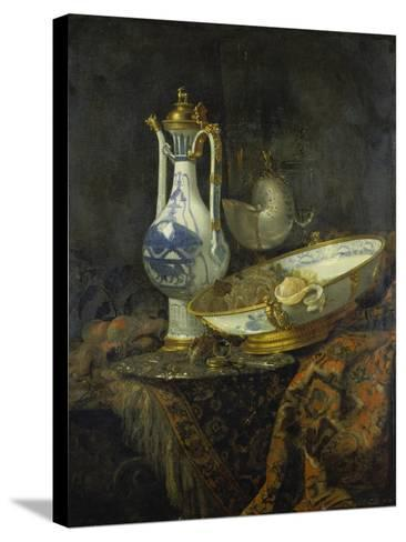 Still Life with Delft Vase and Bowl-Willem Kalf-Stretched Canvas Print