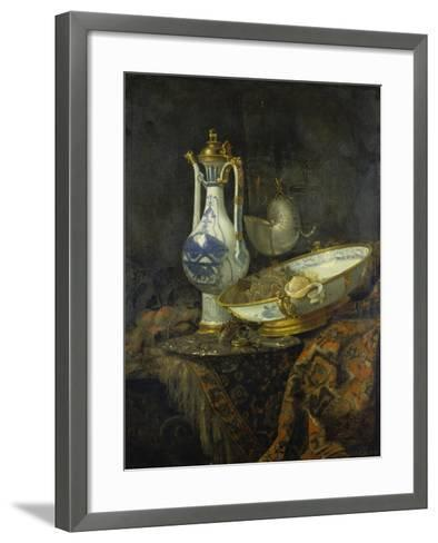 Still Life with Delft Vase and Bowl-Willem Kalf-Framed Art Print