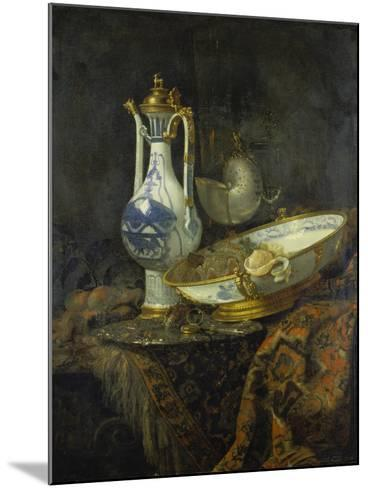 Still Life with Delft Vase and Bowl-Willem Kalf-Mounted Giclee Print