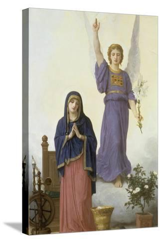 Annunciation-William Adolphe Bouguereau-Stretched Canvas Print