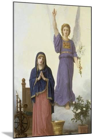 Annunciation-William Adolphe Bouguereau-Mounted Giclee Print