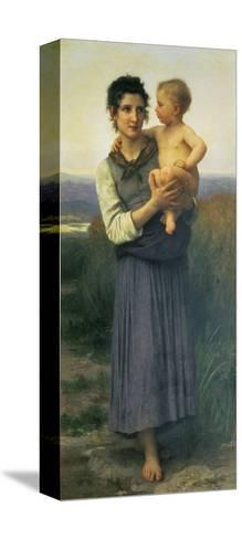 Mother and Child, 1887-William Adolphe Bouguereau-Stretched Canvas Print