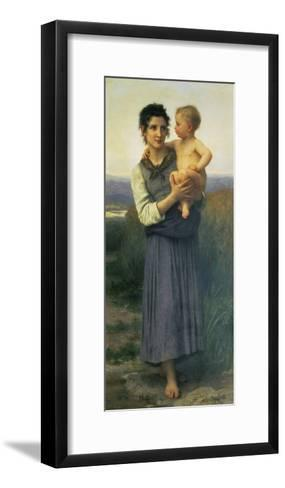 Mother and Child, 1887-William Adolphe Bouguereau-Framed Art Print
